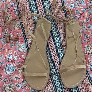 4f9c6d30514e0 Charlotte Russe · NWOT tan faux suede lace up gladiator sandal. $10 $99